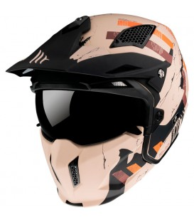 MT Helmets STREETFIGHTER Skull 2020 A14 Matt Orange